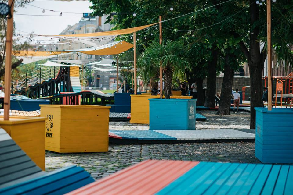 Summer Pop-Up Park In Heart Of Budapest