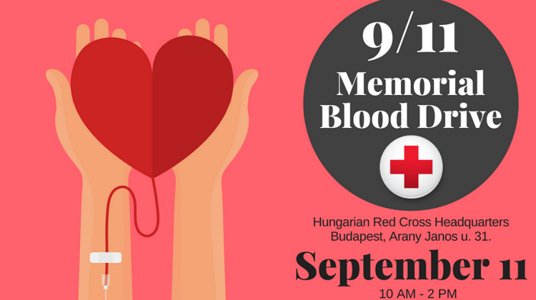Memorial Blood Drive, Red Cross Budapest Headquarters, 11 September