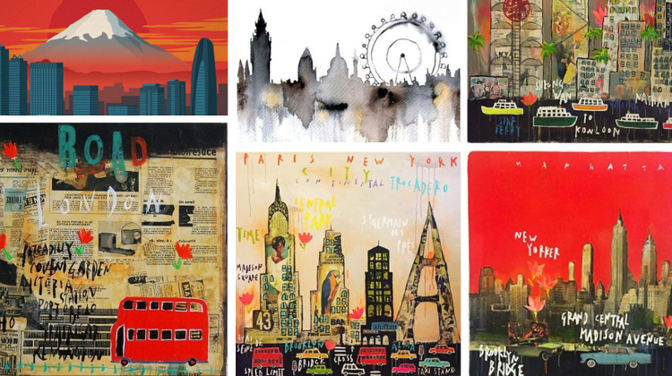 Art In English: Poster Cities Creative Course Starting In October