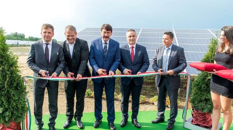 Hungarian President Inaugurates Solar Power Plant