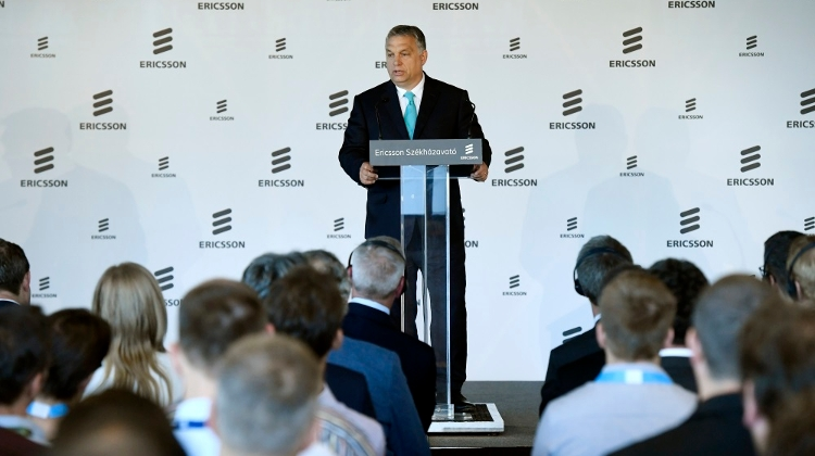 Orbán Attends Ericsson Headquarters Opening