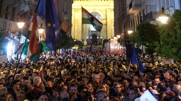 Video: Solidarity Demo For CEU In Budapest