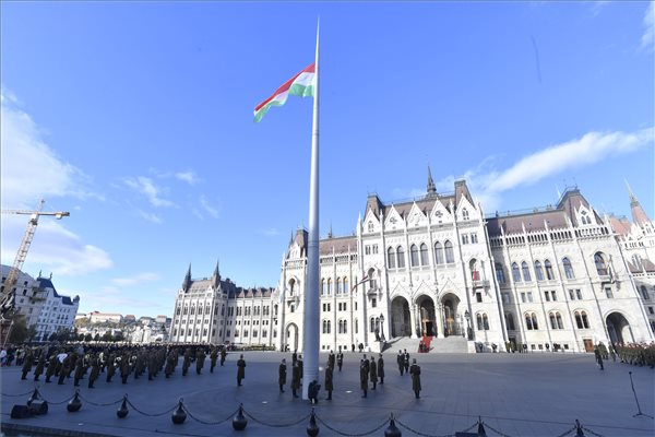 Hungary Commemorates 1956 Uprising, Flag Hoisted At Parliament