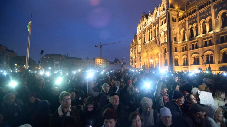 Thousands Join Protest For CEU In Budapest