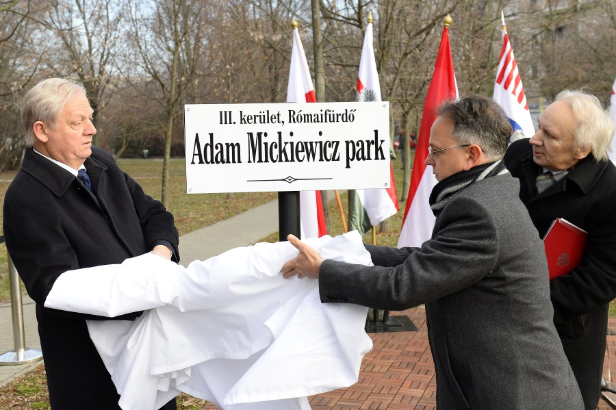 Budapest Park Named After Adam Mickiewicz Inaugurated