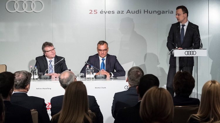 Audi To Set Up HUF 6.15 Bn R+D Centre In Hungary