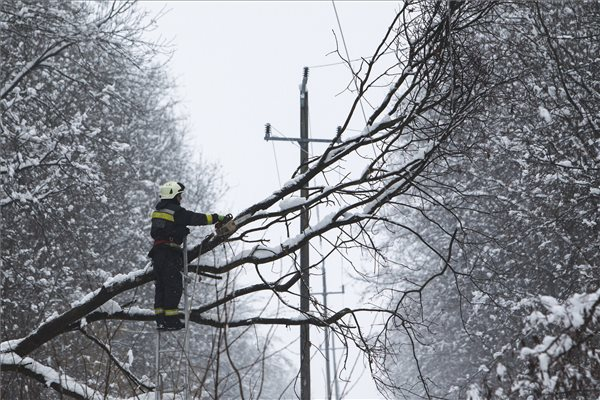 Heavy Snow Prompts Fire Services, Disaster Management Alert In Hungary