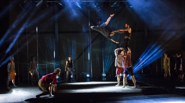 Video: Gravity & Other Myths: 'Backbone' Circus Performance @ Trafo In September