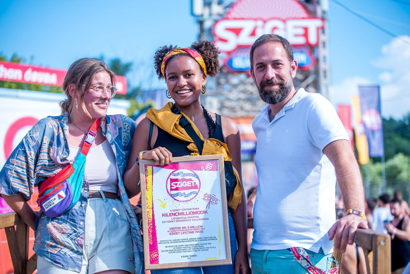 Swiss Student 9 Millionth Visitor At Sziget Festival