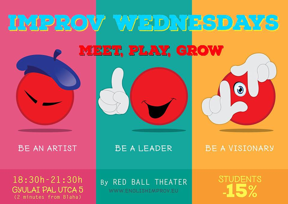 'Improv Wednesdays', Red Ball Theater, 11 April