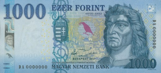 New 1000 Forint Note Launched On 1st March