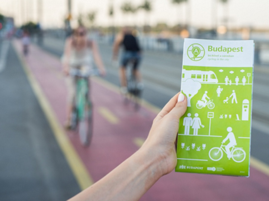 New Bicycle Route Map Of Budapest