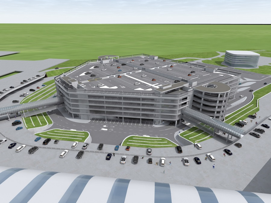 Budapest Airport Building Six-Storey Car Park