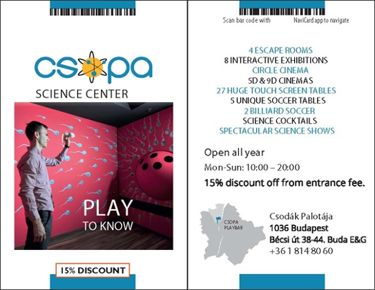 CSOPA Science Center-15% MiniCards Discount