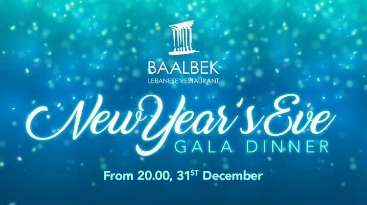 Enjoy Levantine Cuisine & An Oriental Atmosphere On New Year's Eve