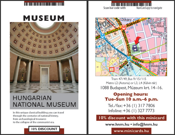 Hungarian National Museum -10% Discount With MiniCards