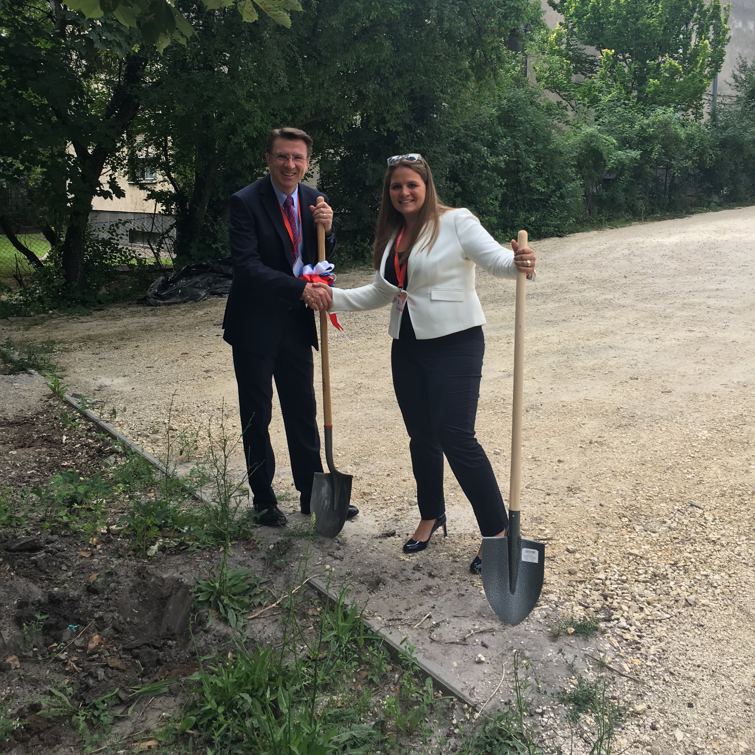 Budapest British International School 'Breaking Of The Ground' Ceremony
