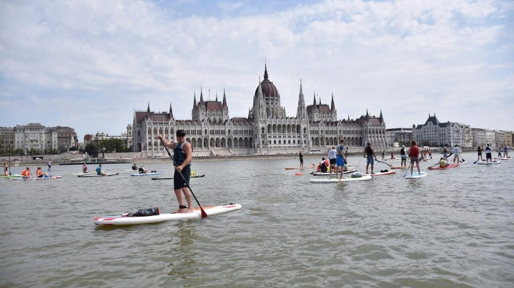 'Stand-Up Paddle' River Event In Budapest, 23 June