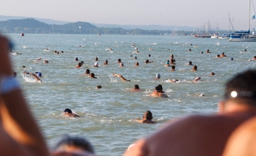Video: Thousands Swim Across Lake Balaton