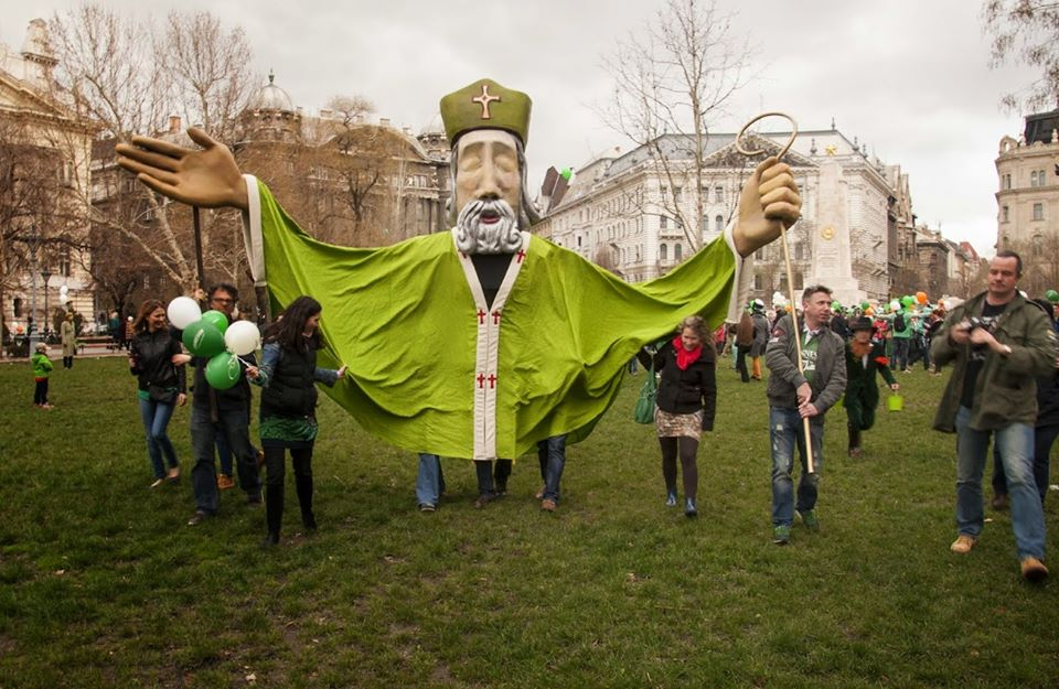 St Paddy's Parade In Budapest, 17 March