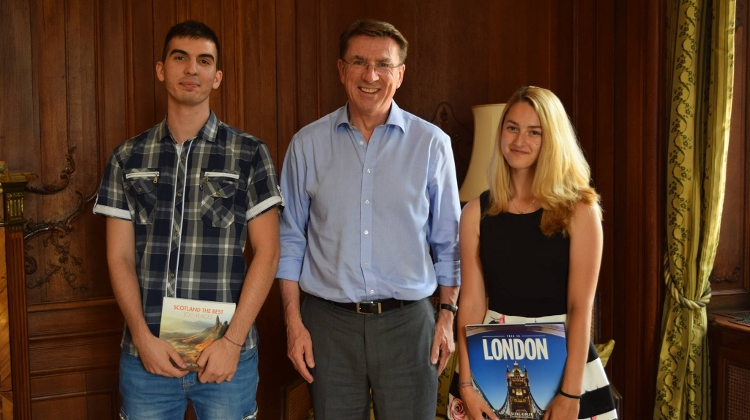 Magic Lamp Charity 'Literary Minutes' At British Ambassador's Residence In Budapest, 14 May