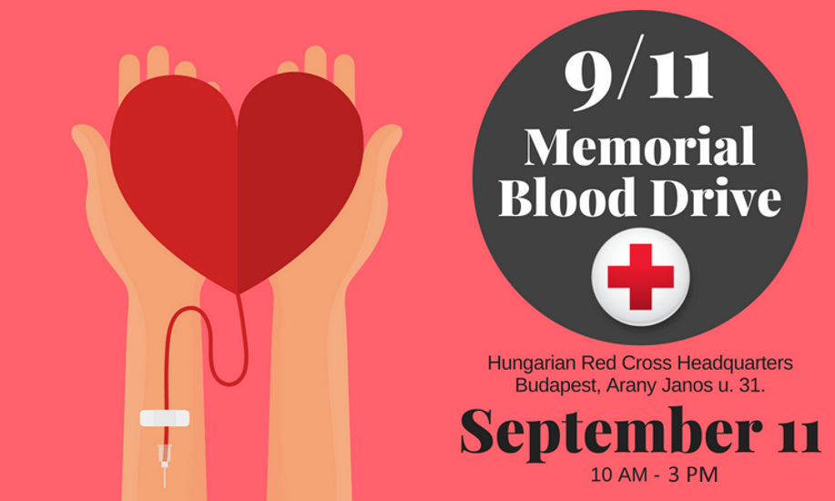 Memorial Blood Drive @ Red Cross Budapest, 11 September