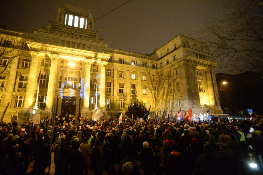 Cultural, Academic Unions Stage Demo In Budapest