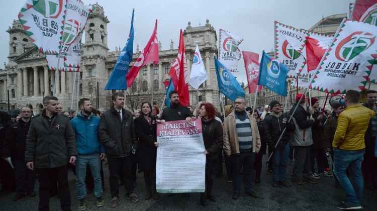 Opposition Parties Hold Joint Demonstration In Budapest On March 15 National Holiday