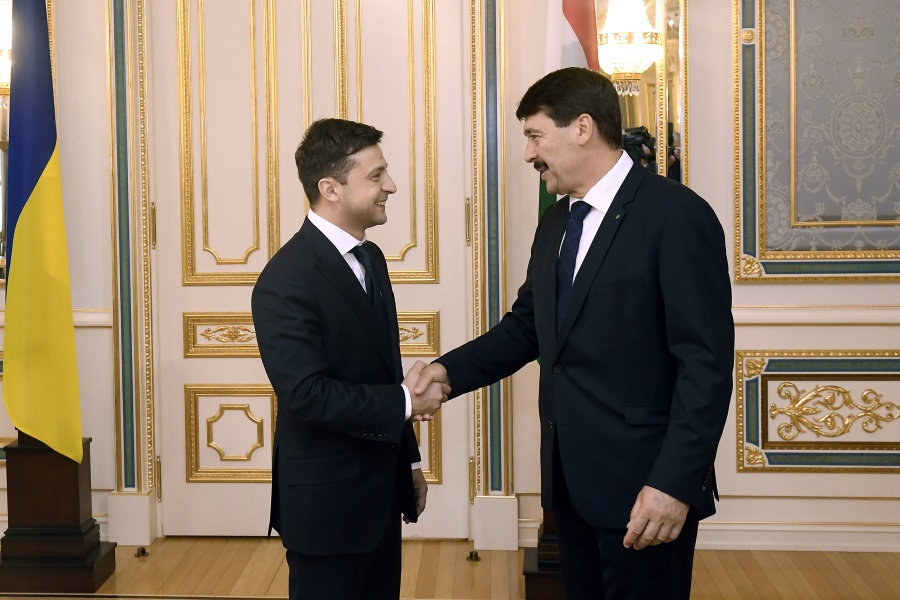 Hungarian President Áder Has Bilateral Talks With Zelensky