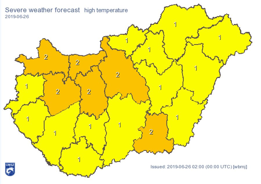 Heat Alert In Hungary Until Wednesday Evening