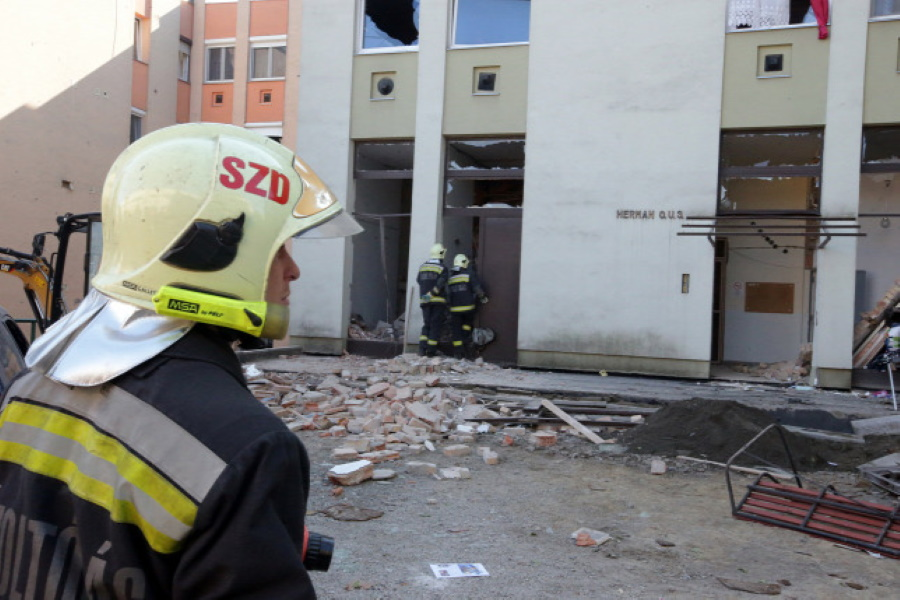 Gas Explosion Destroys Homes In Hungary