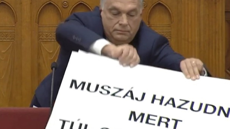 Video: Hungarian MP Interrupts PM Orban's Speech In Parliament Using 'Lies' Sign