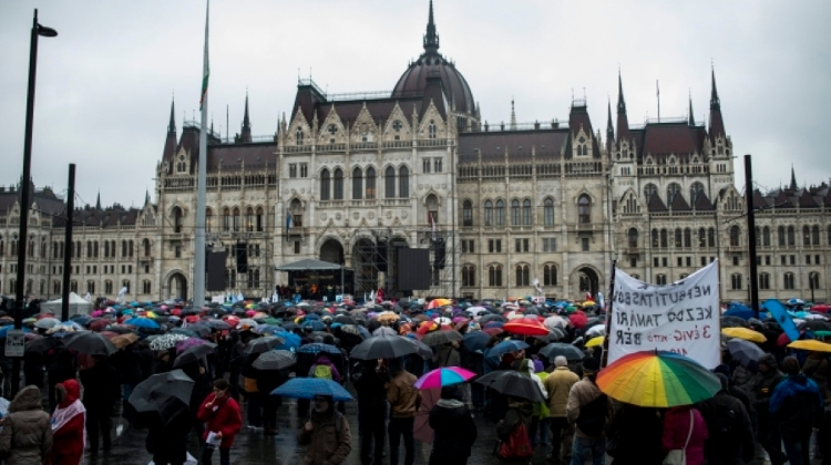 Big Teachers Protest In Budapest