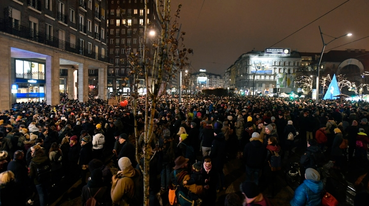 Large Protests In Budapest Against New Culture Bill
