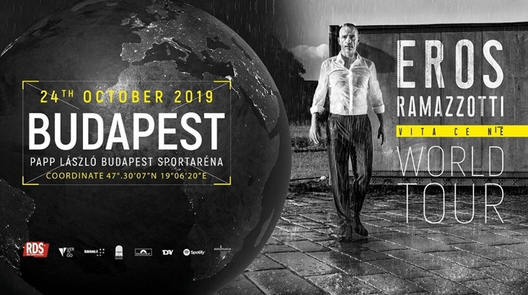 Coming Up: Eros Ramazzotti Concert, Budapest Aréna, 24 October