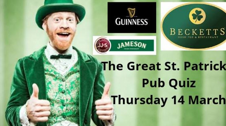 The Great St.Patrick's Pub Quiz, Becketts Irish Pub Budapest, 14 March