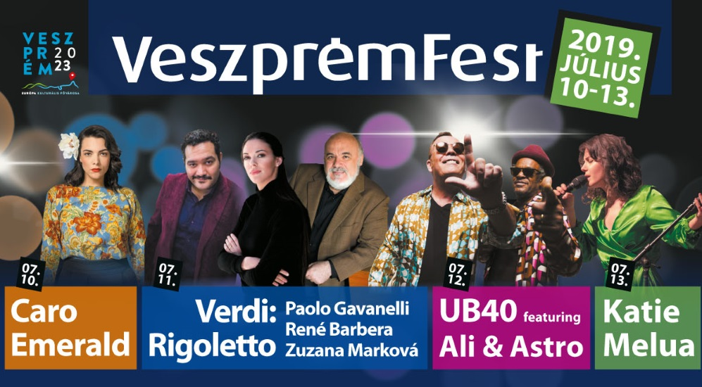 VeszprémFest 2019, Now on Until 13 July