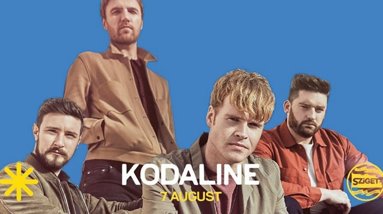 Coming Up: Kodaline @ Sziget Festival, 7 August