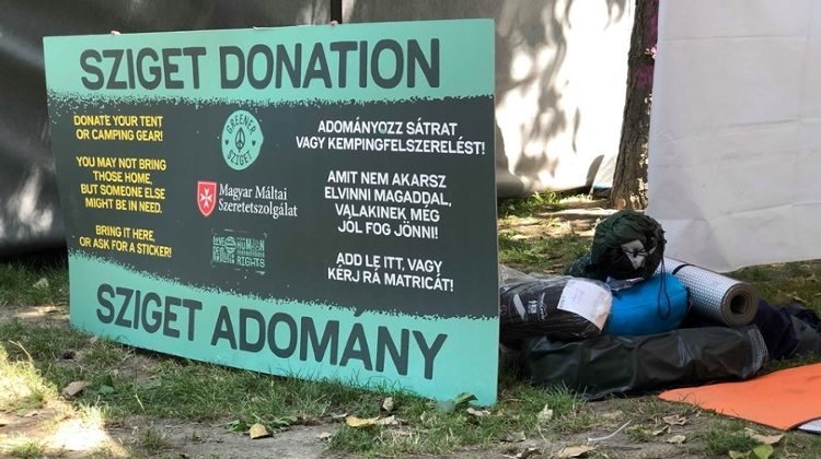 Charity Gets Equipment & Clothing Left By Sziget Festival-Goers