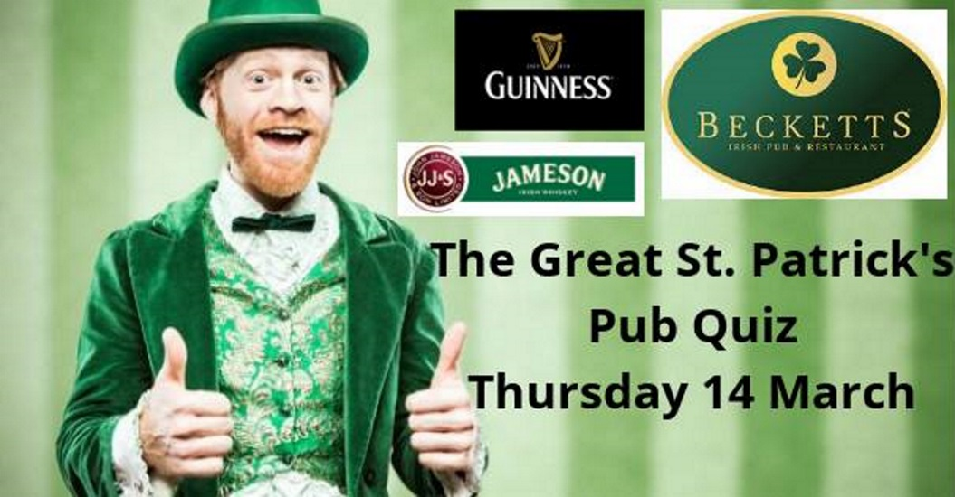 The 'Great St. Patrick's Pub Quiz' @ Becketts Irish Pub