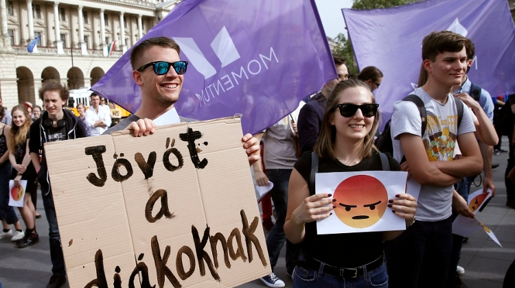 Students Protest Language Skills Requirement For Higher Education Entry In Budapest