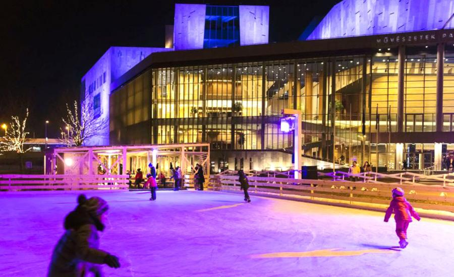 Outdoor Ice Rink @ Budapest Palace Of Arts, Open Until 29 January