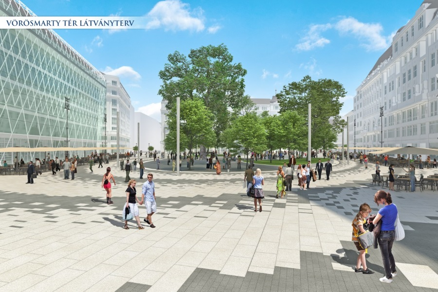 Revamp Of Two Major Squares In Downtown Budapest Starts