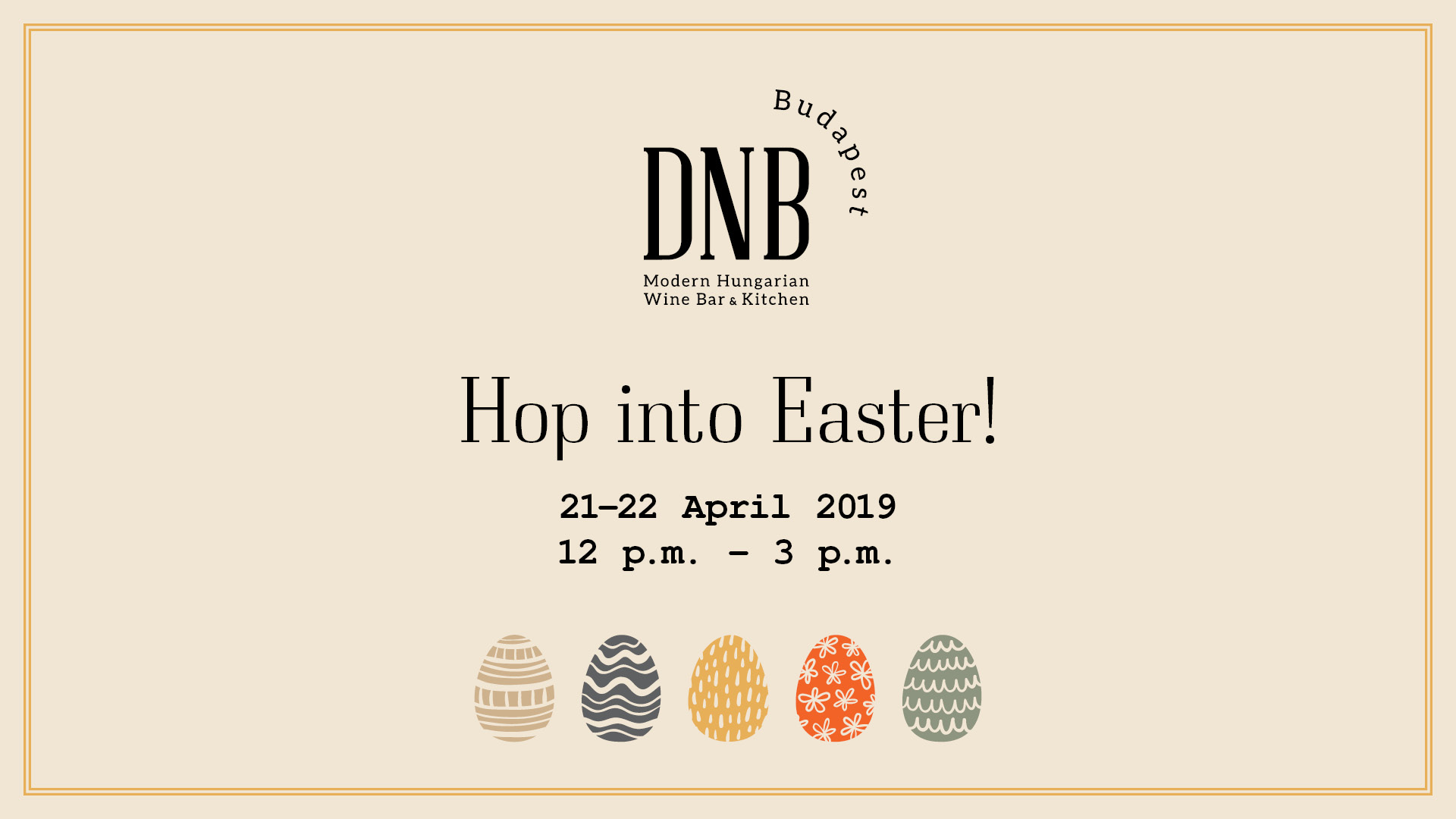 Hop Into Easter @ DNB Budapest