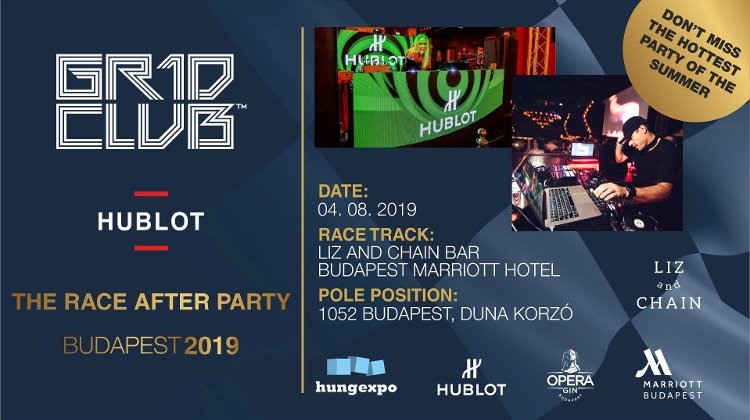 GR1D Club Budapest: 'The Race After Party', Marriott Hotel, 4 August