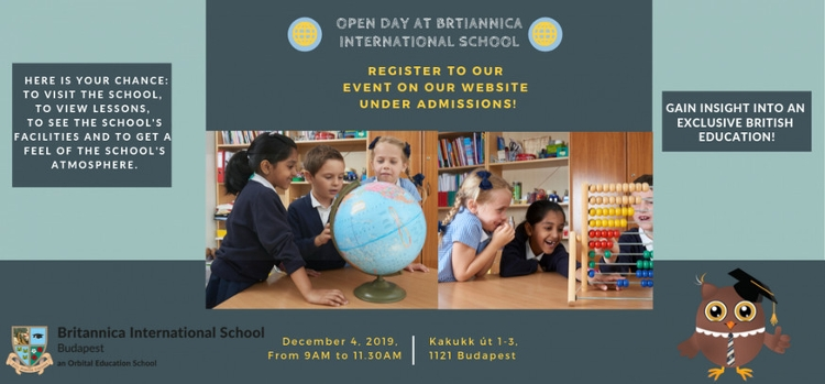 Open Day @ Britannica International School, Budapest On 4 December