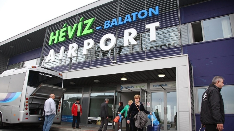 First Guests Arrive At Airport Near Balaton