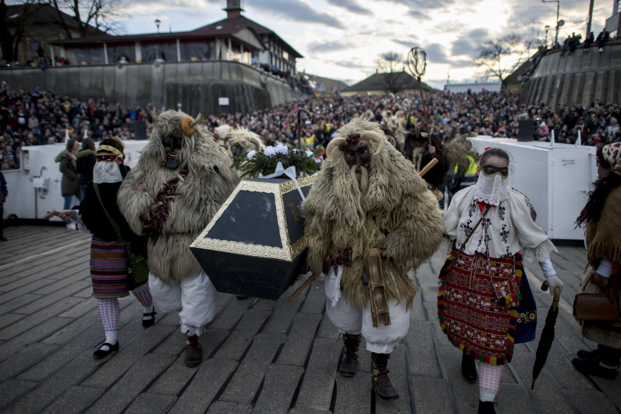 Video: Hungary Says Goodbye To Winter With Bizarre Costume Festival
