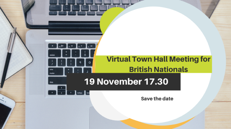 Virtual Town Hall Meeting For British Nationals In Hungary, 19 November
