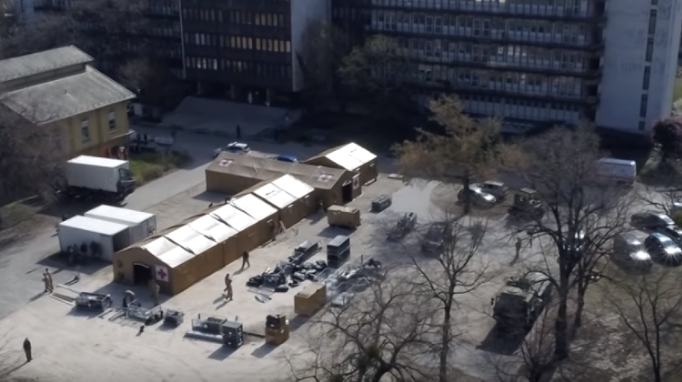Video: Tent Hospital Set Up In Budapest For Coronavirus Patients